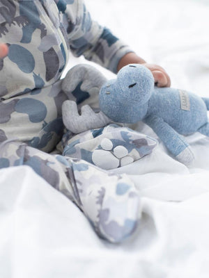 Juddlies - Camoose Bamboo Sleepsuit - Double Zip, Footed & Turnover Hand Cuffs - Blue/Grey - Stylemykid.com