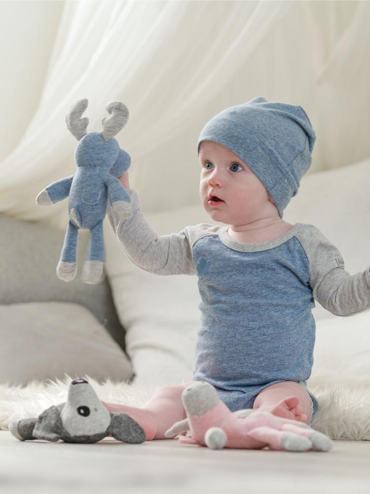 Juddlies - Organic Denim Blue Slouchy Baby Hats - Raglan Collection - Pack of 2 - Stylemykid.com