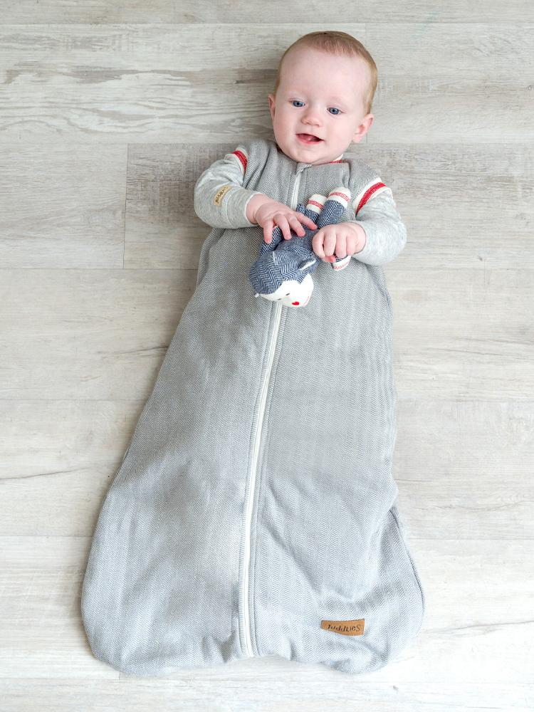 Juddlies - 2.5 Tog Dream Sack Baby Sleeping Bag - Driftwood Grey - Organic Cottage Collection - Stylemykid.com