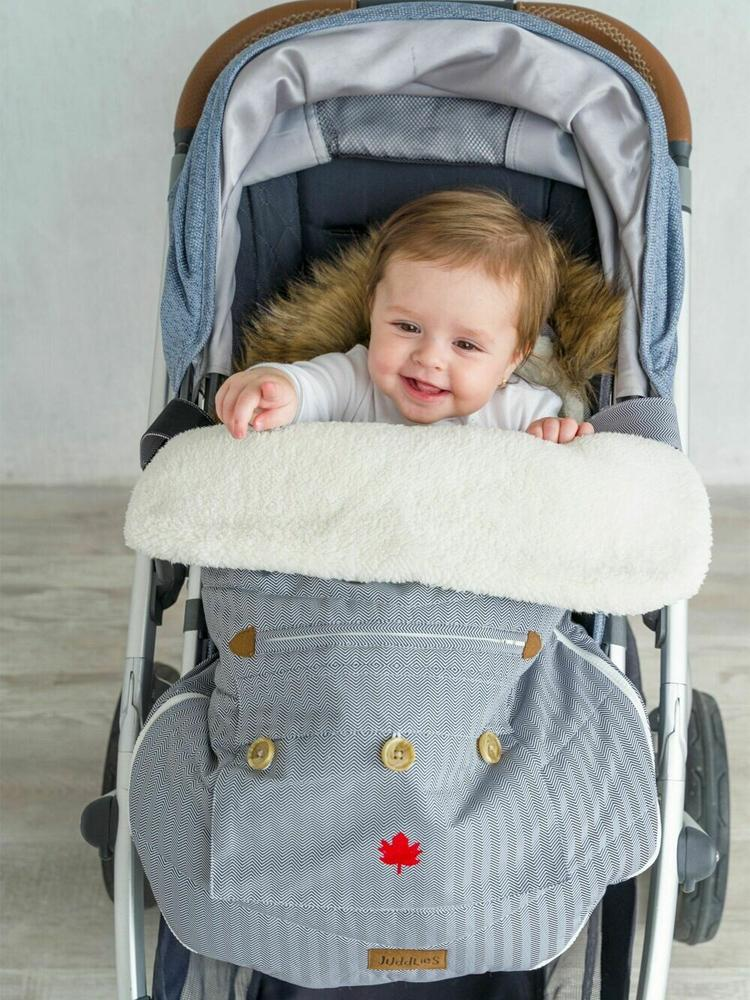 Juddlies - Infant Car Seat & Push Chair Bag - Herringbone Grey - Stylemykid.com
