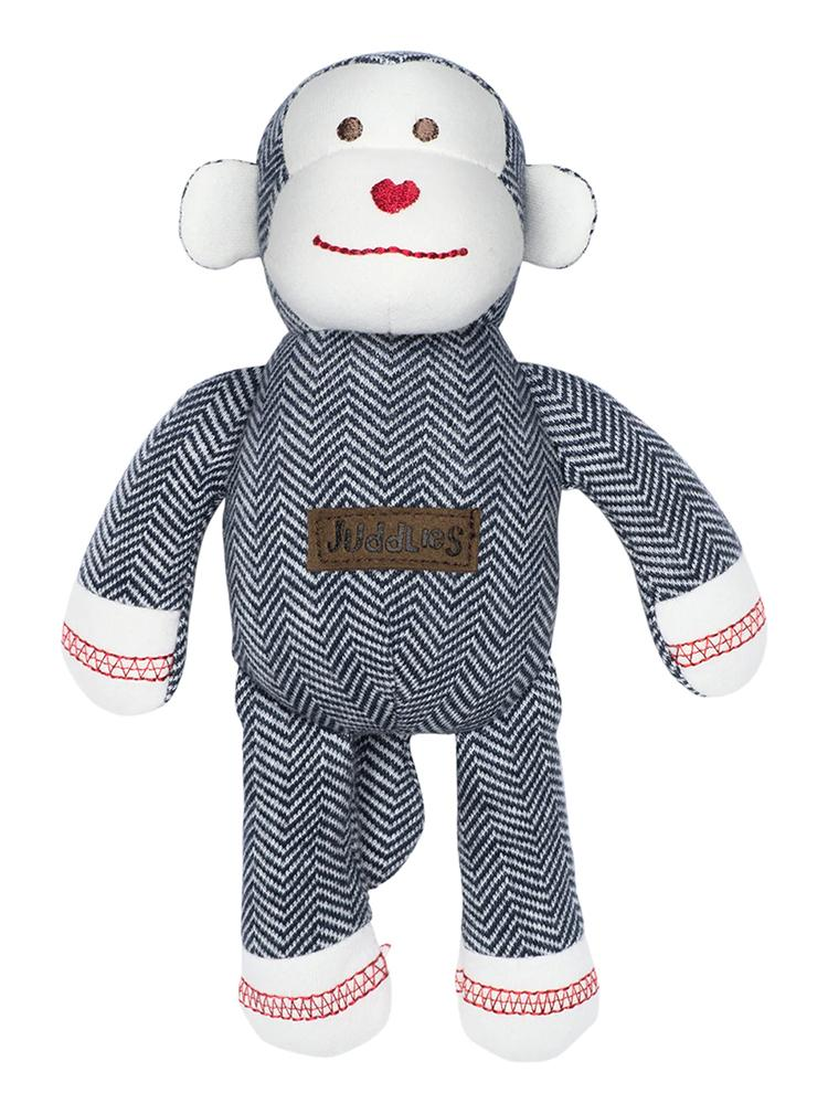 Juddlies - Baby Soft Toy Rattle Comforter - Organic Lake Blue Monkey - Cottage Collection - Stylemykid.com