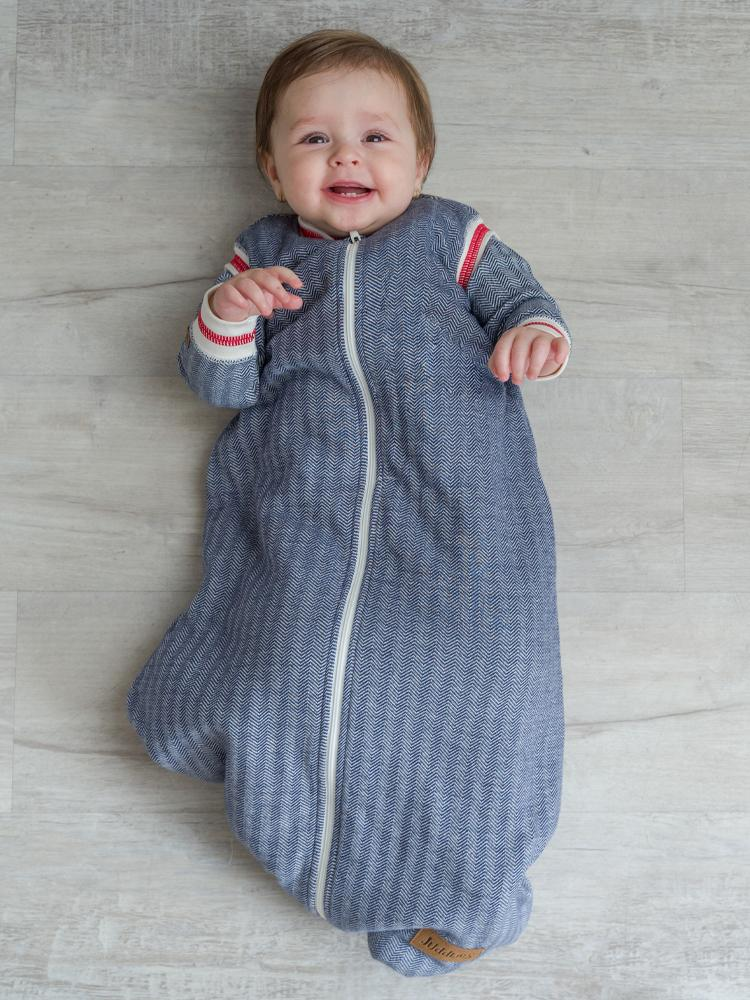 Juddlies - 2.5 Tog Dream Sack Baby Sleeping Bag - Lake Blue - Organic Cottage Collection - Stylemykid.com