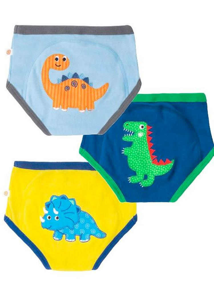 Zoocchini - Boys Juraasic Pals Organic Potty Training Pants - 3 pack - Stylemykid.com