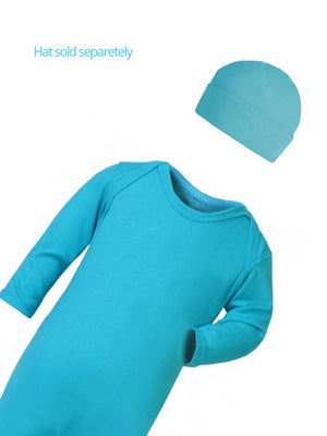 Turquoise Blue Footed Rompersuit - Stylemykid.com