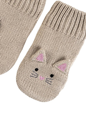 Zoocchini -  Kids Knit Mittens - Kallie The Kitten - 1-2Y - Stylemykid.com