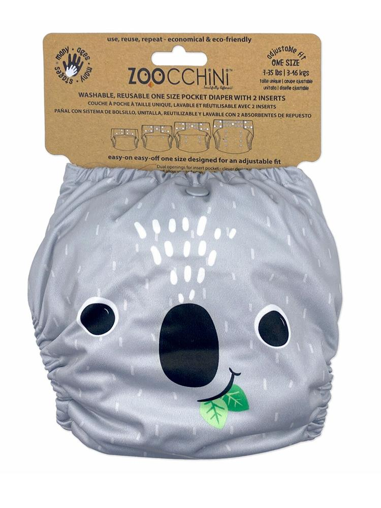 Zoocchini - Washable Reusable Cloth Pocket Nappy with 2 Inserts - Kai the Koala - Stylemykid.com