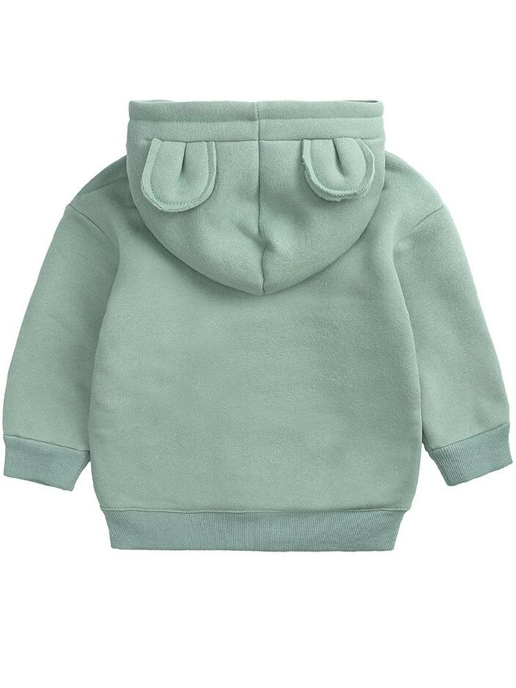 Animal Ears Hooded Sweatshirt - Green - Stylemykid.com