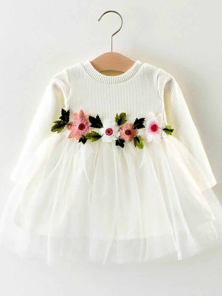 White Flower Girls Party Tutu Dress - Snow White - Stylemykid.com