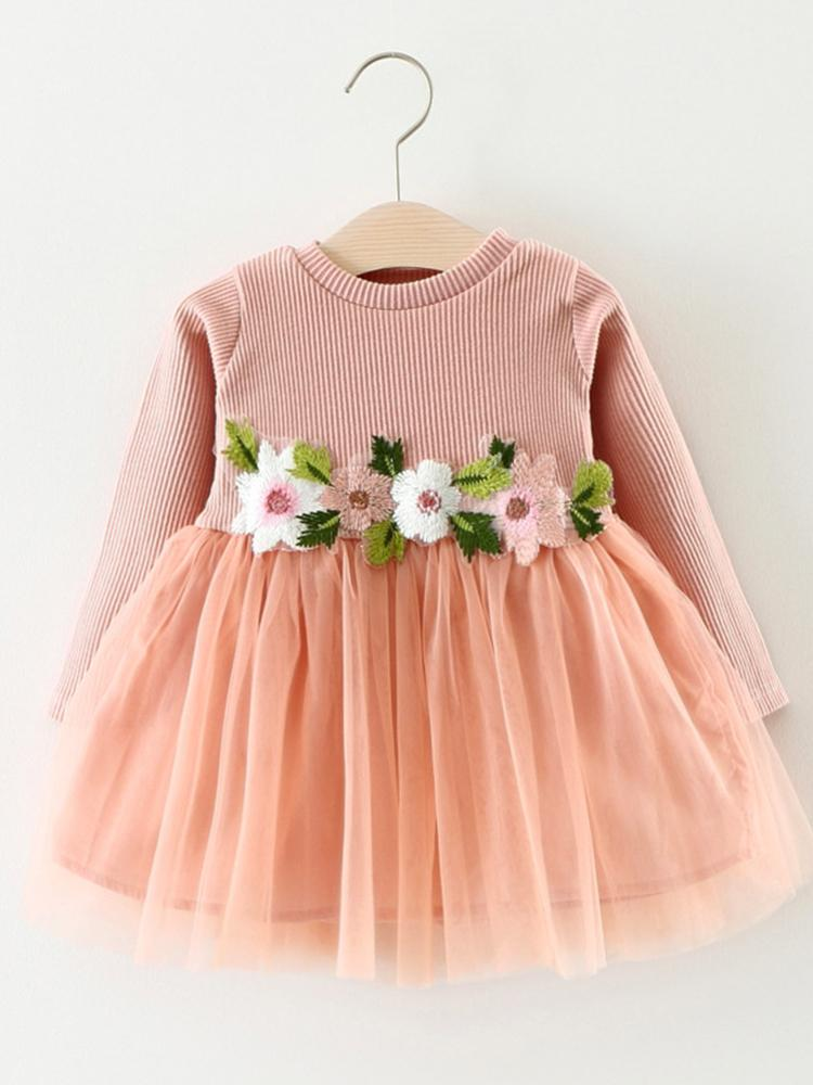 Pink Flower Girls Party Tutu Dress - Candy Pink - Stylemykid.com