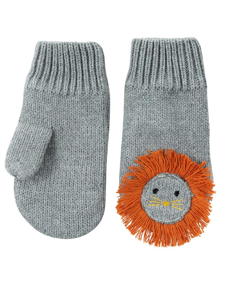 Zoocchini - Knitted Mittens Leo The Lion - 6Months to 2 Years - Stylemykid.com