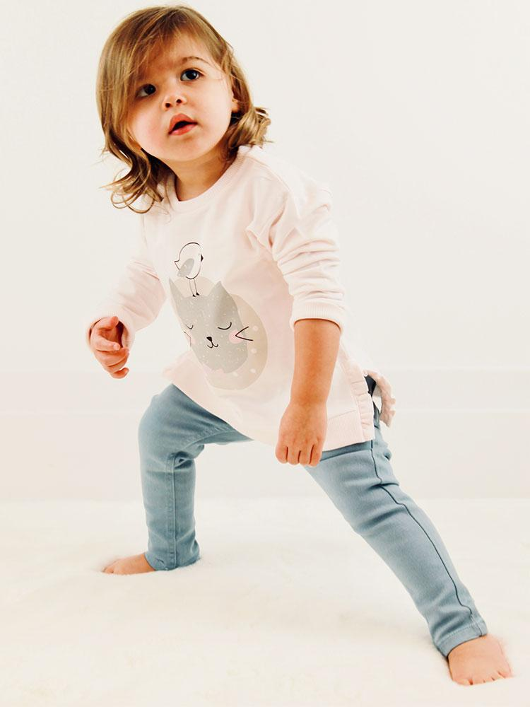 Light Blue Jeans - Unisex 0 months to 2 years - Stylemykid.com