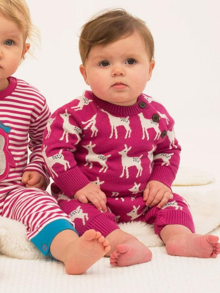 Little Deer Knit Romper by KITE - Stylemykid.com