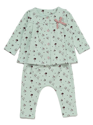 Artie - Little Chicks Pale Green 2 Piece Top and Bottoms Outfit - Stylemykid.com