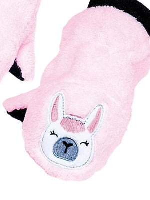 Flapjack Kids - Winter Fleece Puppet Mittens/Gloves - Llama - Stylemykid.com