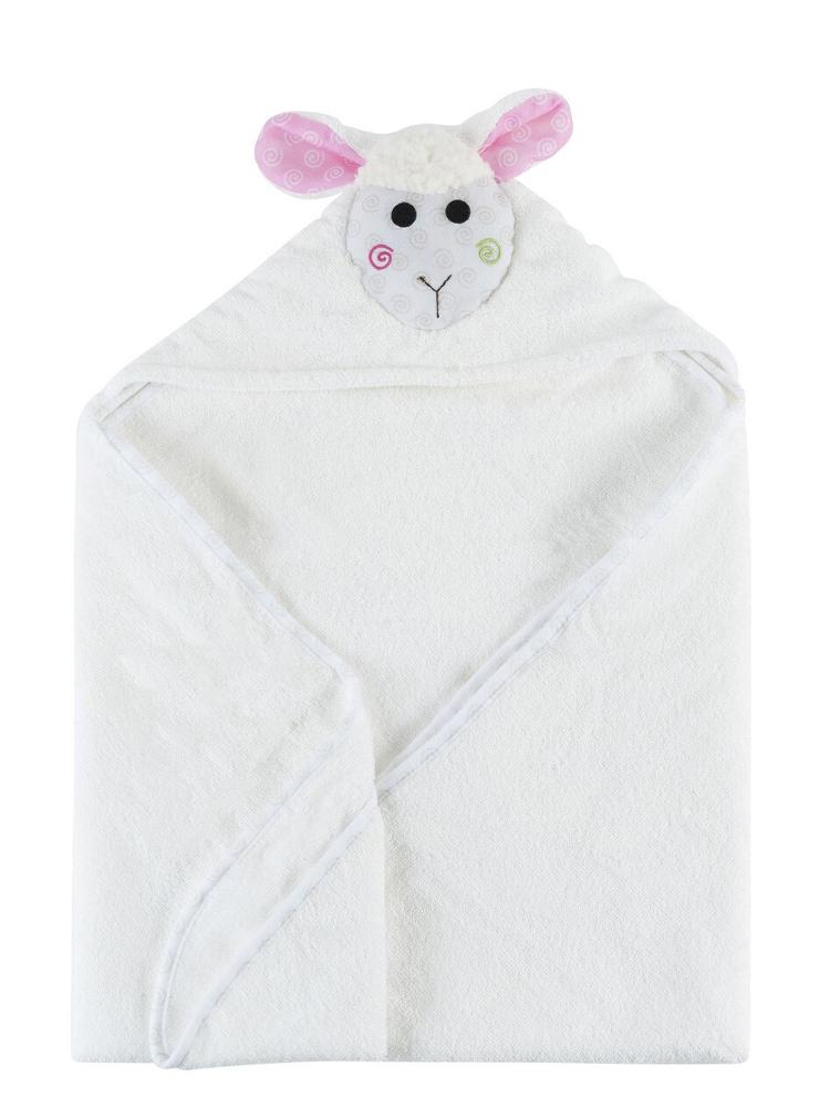 Zoocchini - Animal Cotton Baby Hooded Towels - Lola the Lamb - 0-2 Years - Stylemykid.com