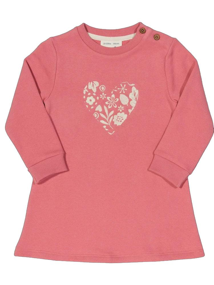 KITE Organic - Love Leaf Dress - Girls Rose Pink Embroidery Dress from 0-3 to 18 months - Stylemykid.com