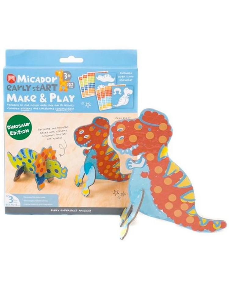 Micador Early stART Make & Play Kids Art Craft Set - Dino Edition - Stylemykid.com