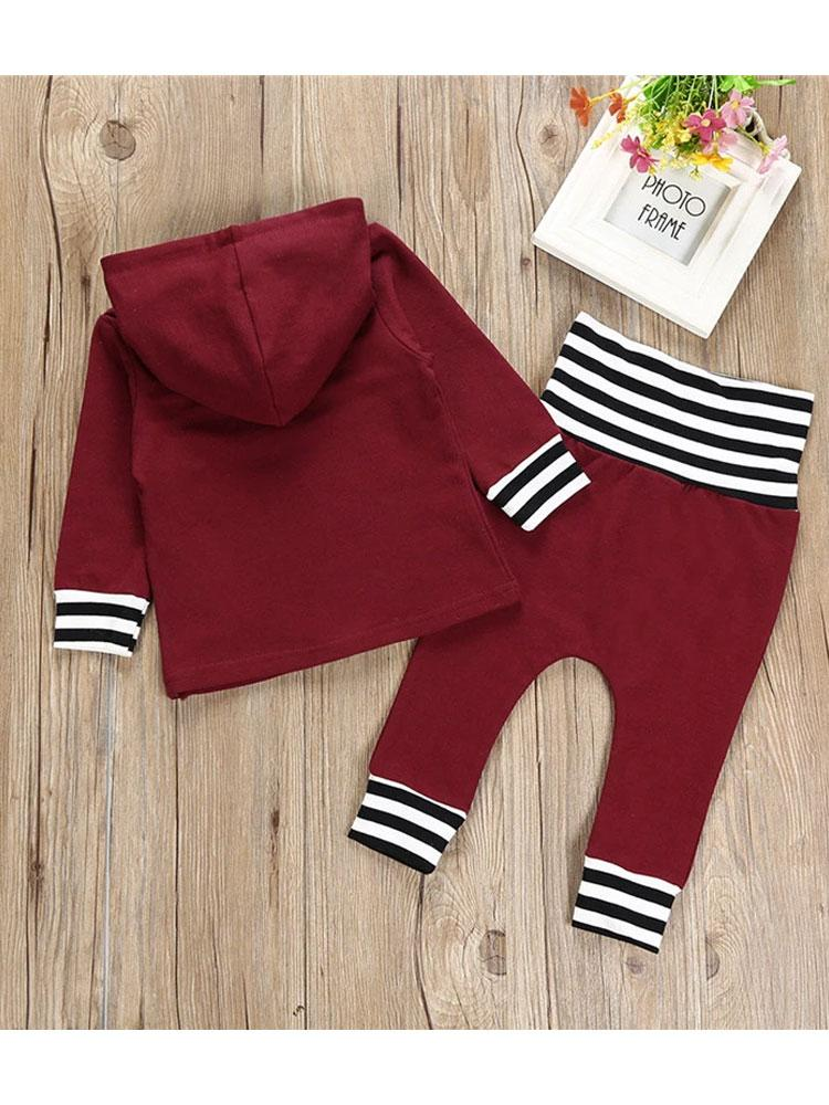 Maroon Munchkin - Two Piece Hoodie and Matching Bottoms - Stylemykid.com