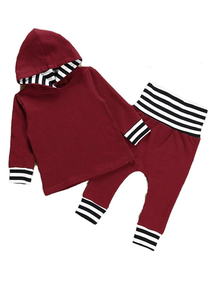 Maroon Munchkin - Two Piece Hoodie and Matching Bottoms - 6m to 2 years - Stylemykid.com