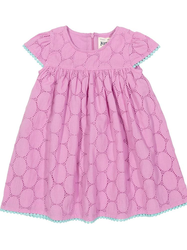 KITE Organic - Girls Violet Smock Broderie Anglaise Dress from 6-12 months - Stylemykid.com