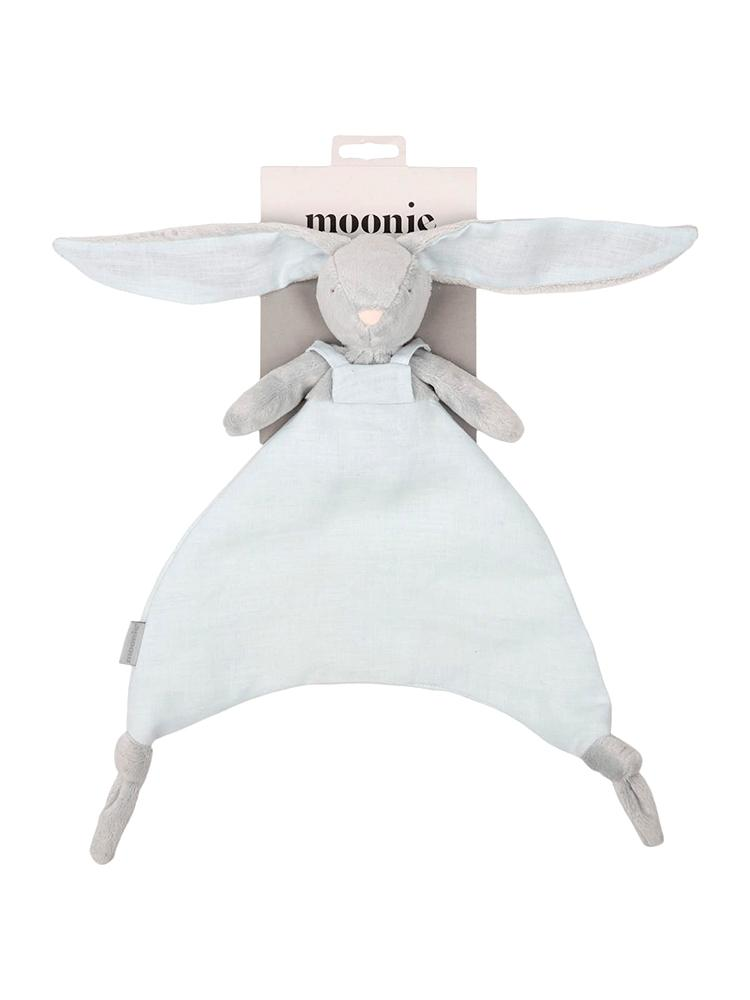 Moonie DouDou Baby Comforter Cuddly Toy Bunny - Sky