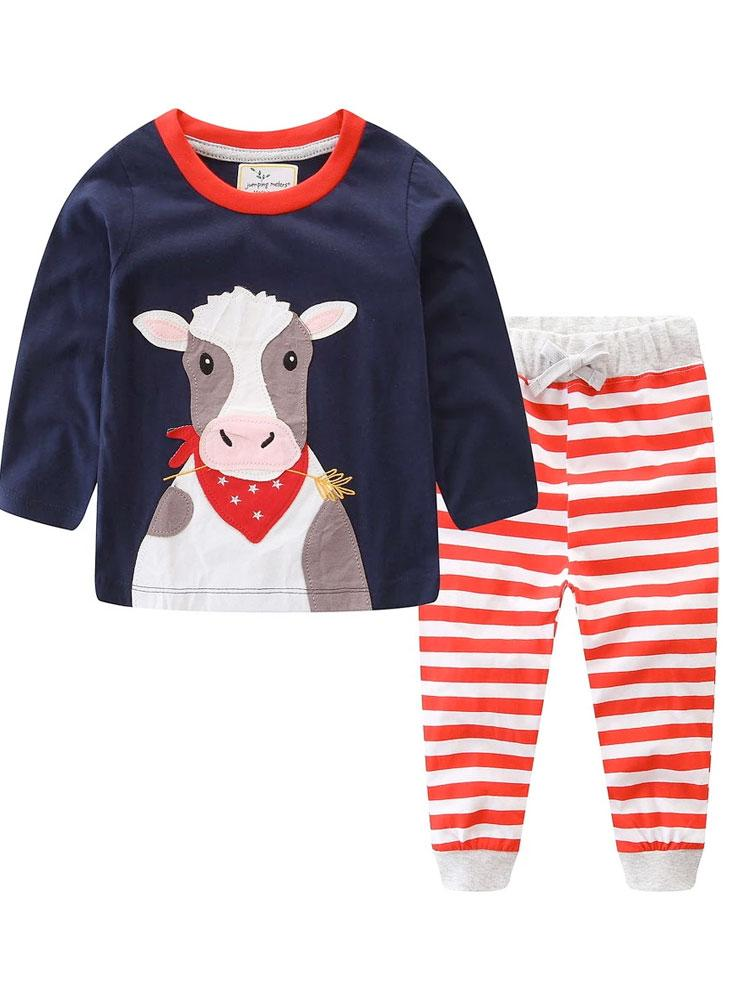 Mr Moo Set - Cow Top and Red Trousers Outfit - Stylemykid.com