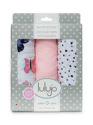 Lulujo - Mini Muslin Cloth 3 Pack - Modern Butterfly - Stylemykid.com