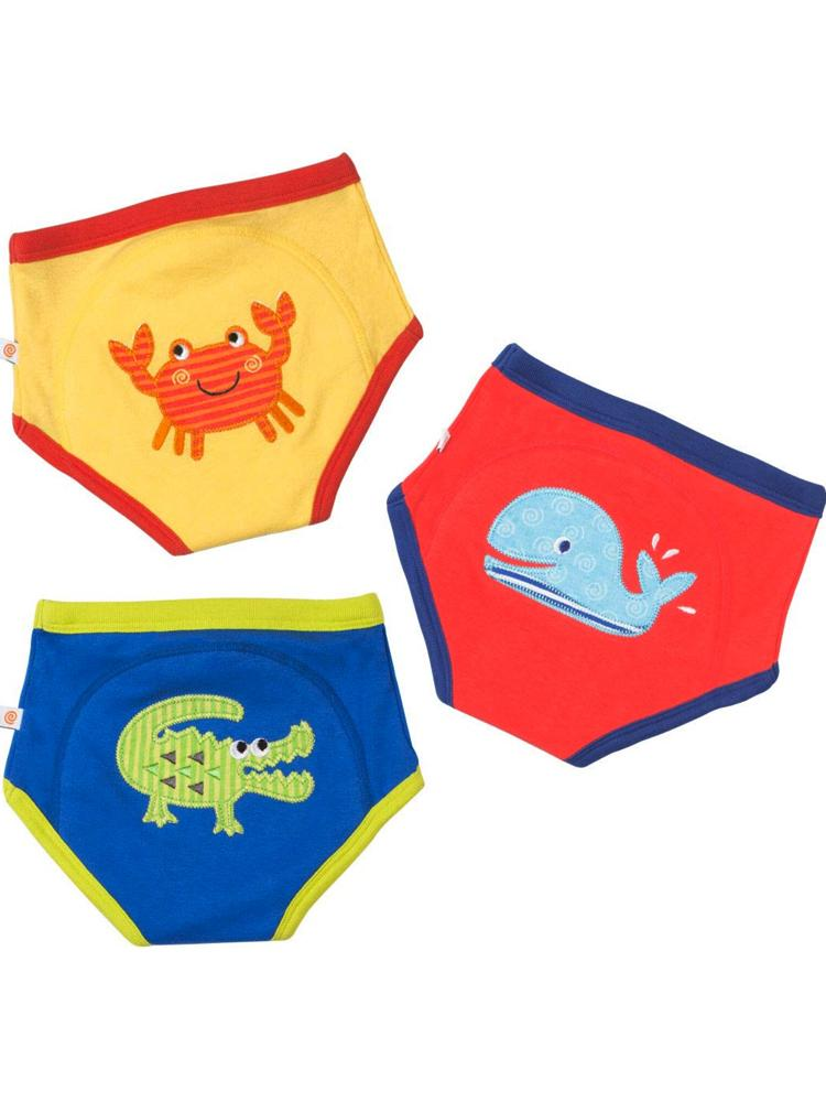 Zoocchini - 100% Organic Cotton Boys Potty Training Pants (3 pack) - Ocean Friends - Stylemykid.com