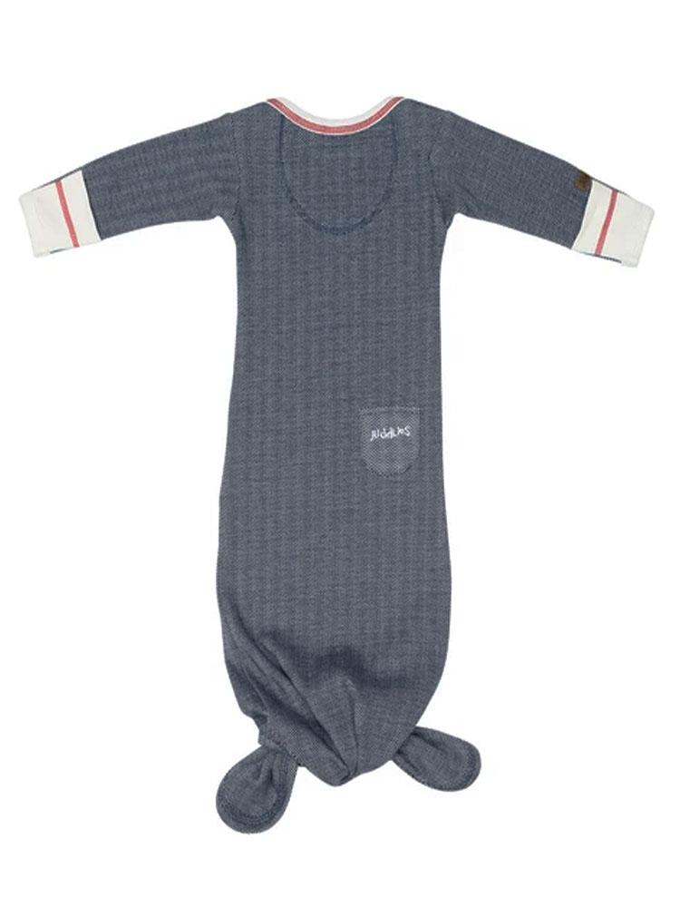 Organic Lake Blue Fishtail Night Gown - Stylemykid.com