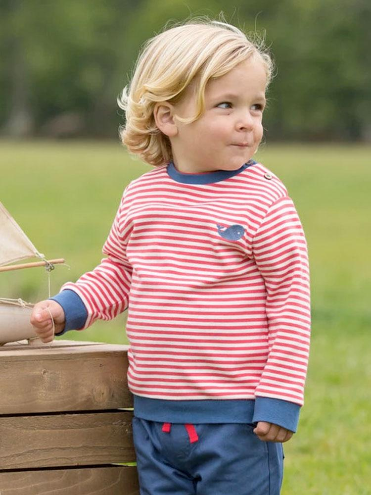Organic Red and Blue KITE Sweatshirt - Stylemykid.com