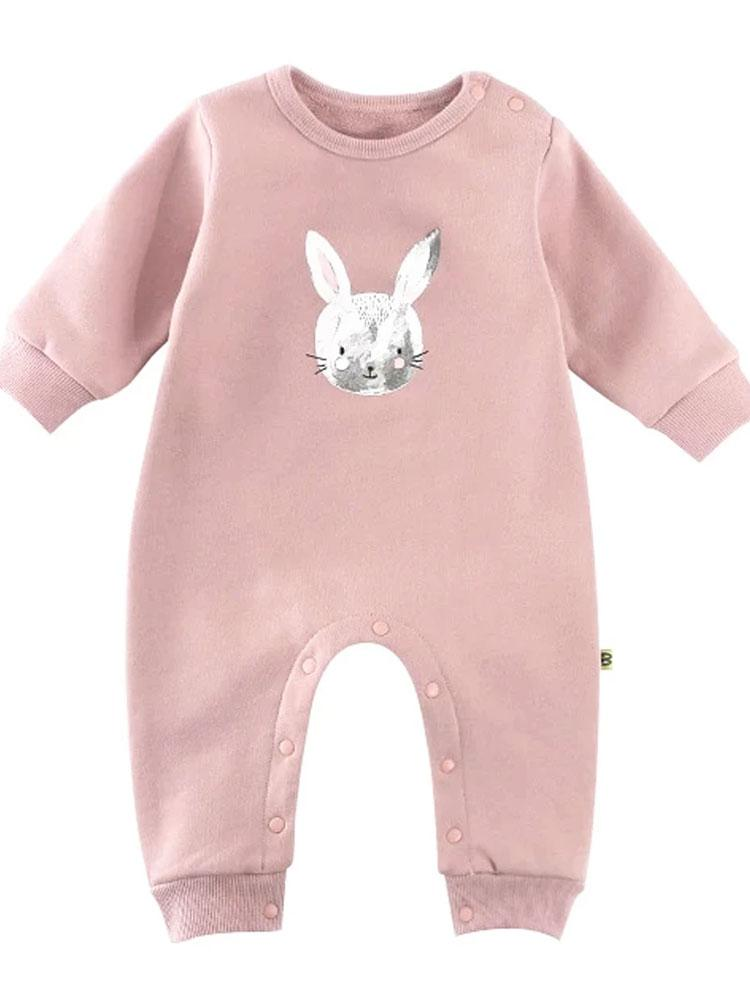 Painted Bunny - Gorgeous Pink Onesie with Bunny Image - Stylemykid.com