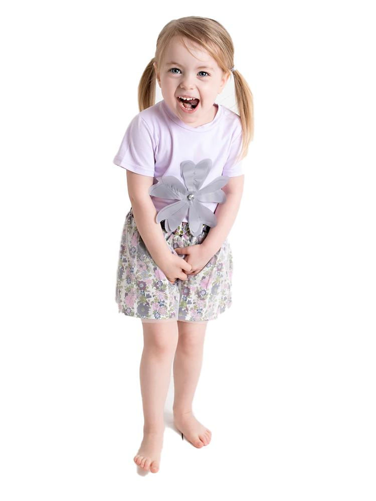 Pastel Girls Floral Top & Tutu Set - Stylemykid.com