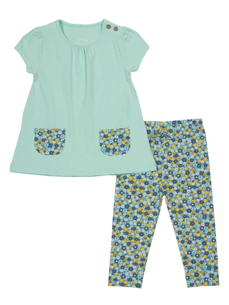 KITE Organic Petal Pocket Tunic and Leggings Set (3-6 months) - Stylemykid.com
