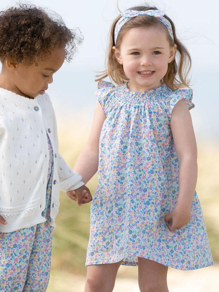 KITE Organic - Pretty Picnic Floral Dress with Matching Pants - From 3 months - Stylemykid.com