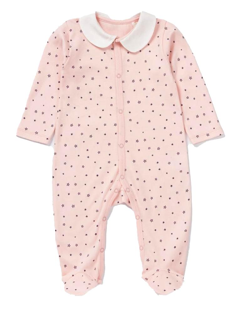 Artie - Pink Stars Baby Footed Sleepsuit 9-12 months - Stylemykid.com