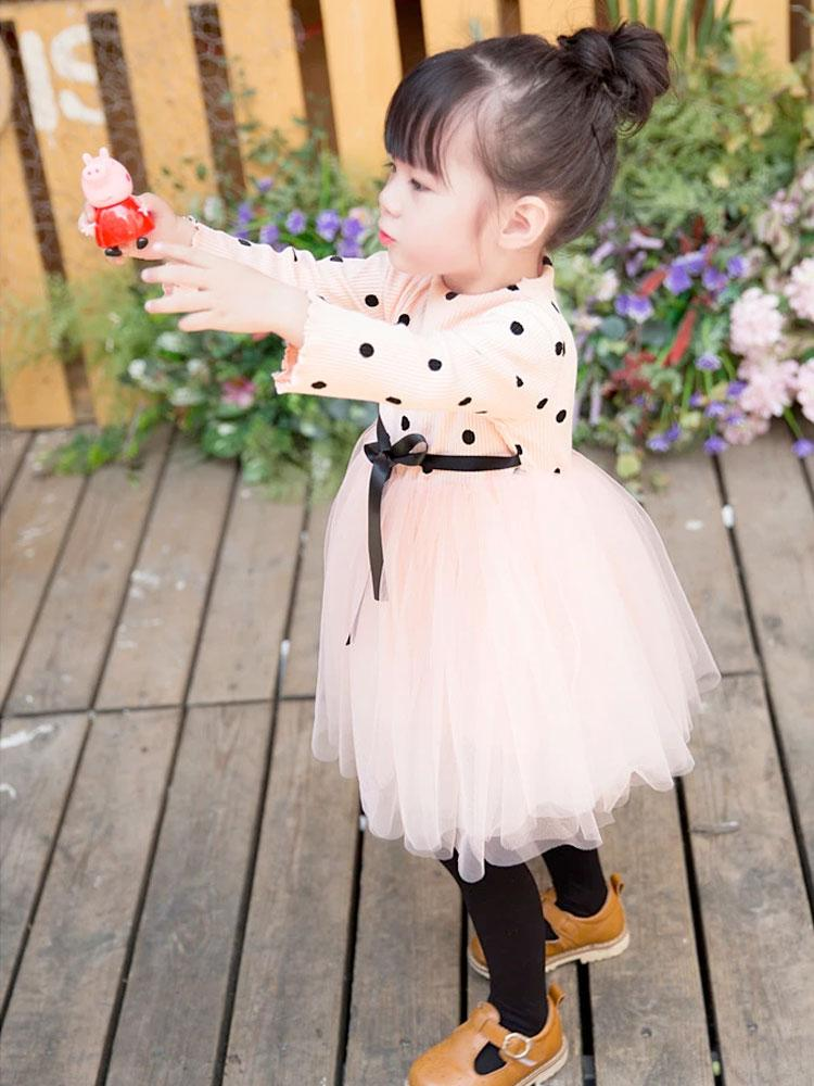 Pink Polka Dot Girls Tutu Party Dress - Stylemykid.com