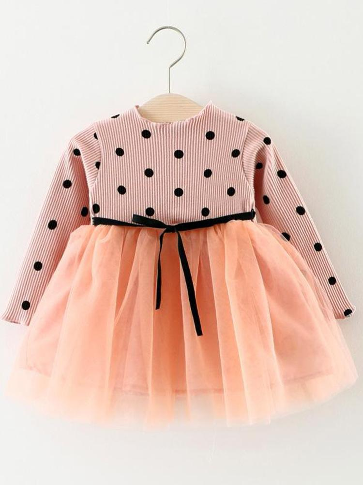 Girls Pink Polka Dot Party Tutu Dress (new listing) - Stylemykid.com