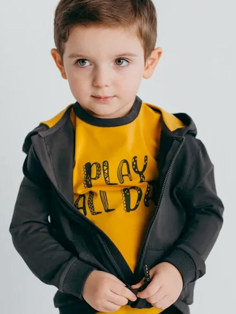 Artie - Play All Day - Mustard T-Shirt - Stylemykid.com