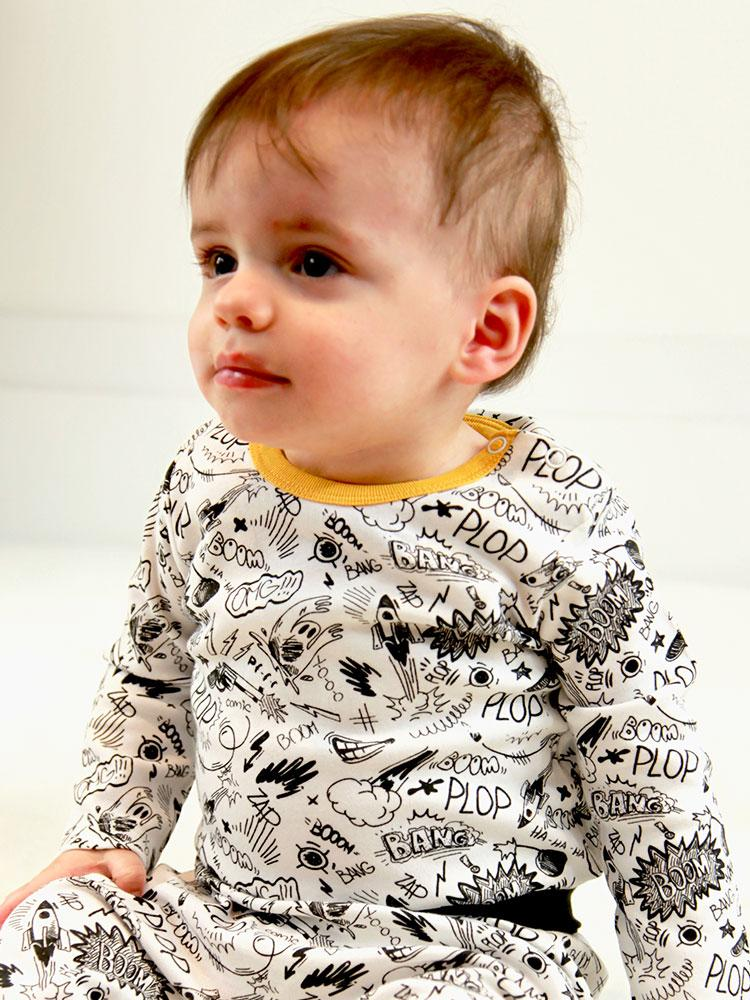 Pop Comic Baby Bodysuit - Newborn to 12 months - Stylemykid.com