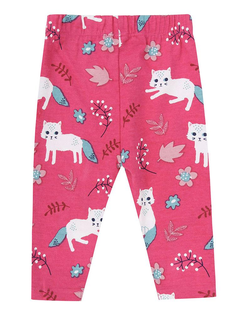 Lilly & Sid Organic Pretty Kitty Leggings (3-6 Months) - Stylemykid.com