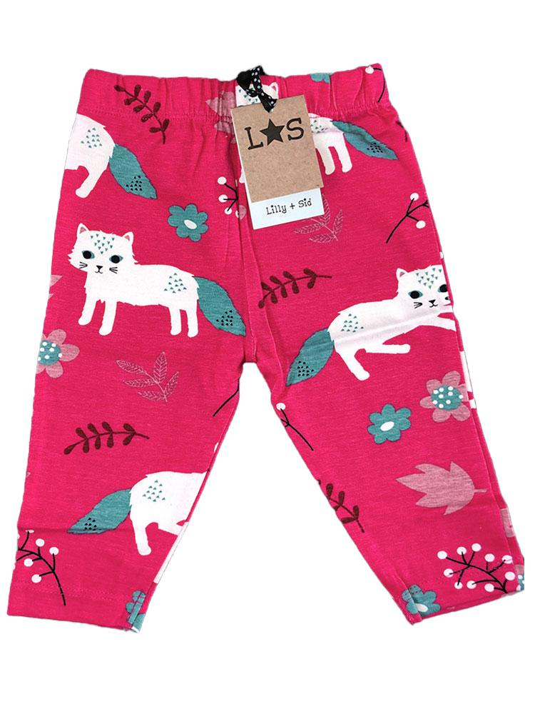 Lilly & Sid Organic Pretty Kitty Leggings - Stylemykid.com