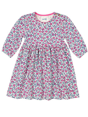 Pretty Petal Kite Organic Girls Dress - Petal Print - Stylemykid.com