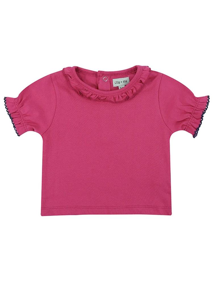 Lilly & Sid Organic Pretty Pink Girls T-Shirt - Stylemykid.com