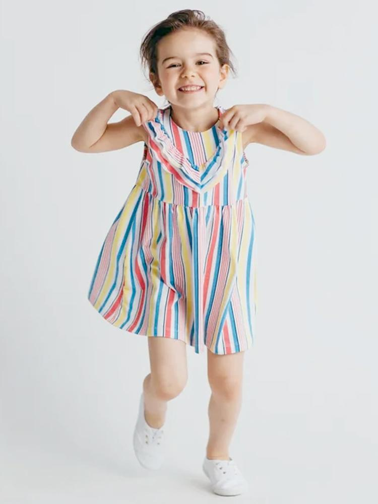 Artie - Pretty Girls Candy Striped Dress - Stylemykid.com