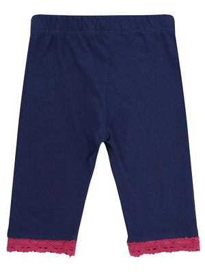 Lilly & Sid Organic Pretty Trim Crop Leggings - Stylemykid.com