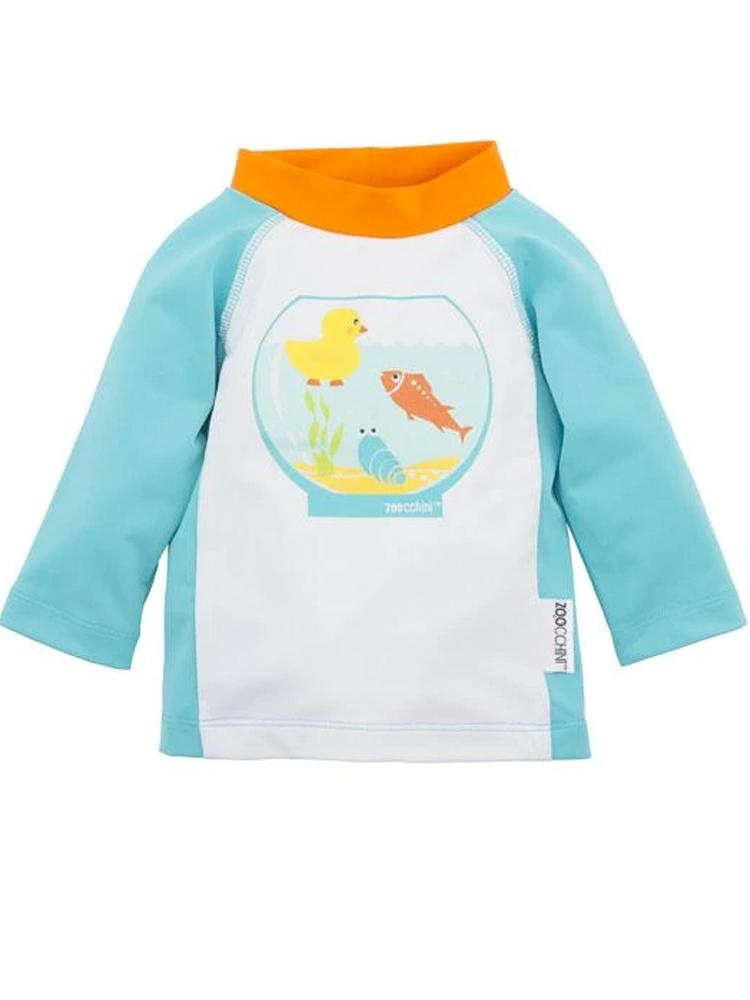 Zoocchini - UPF50+ Fishbowl Buddies Baby Swim Top/ Rash Guard - Stylemykid.com