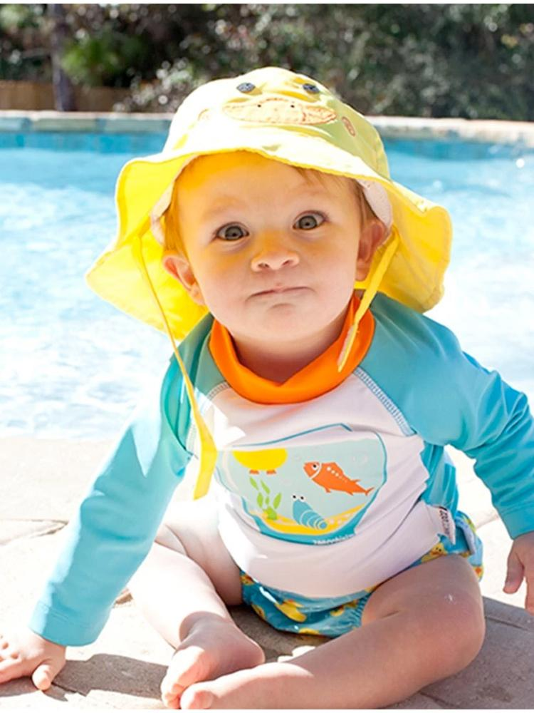 Zoocchini - UPF50+ Baby Swim Top/ Rash Guard - Fishbowl Buddies Duck & Fish - Stylemykid.com