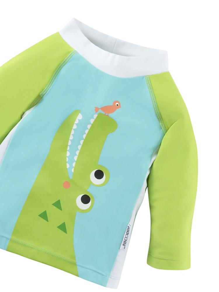 Zoocchini - Spandex Babies Swim Top/ Rash guard - Alligator - Stylemykid.com
