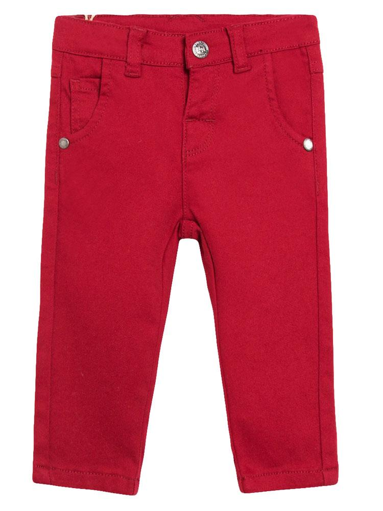 Red Slim Elasticated Jeans - Unisex 0 to 24 months - Stylemykid.com