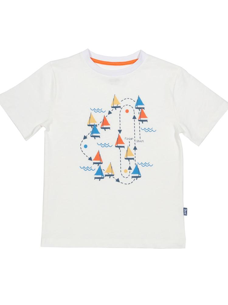 KITE Sailing race White t-shirt - Stylemykid.com